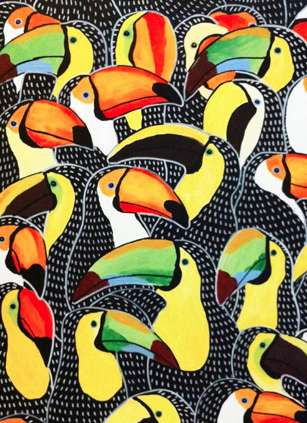 Polychromatic Parrot Paintings - Johanna Burai is a Talented Artist Who Creates Colorful Birds