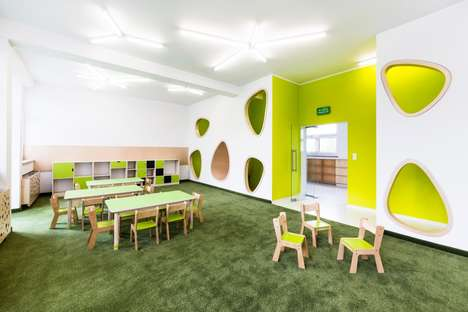 Vibrant Sensory Classrooms - This Polish Kindergarten Classroom Design Focuses on Color & the Senses
