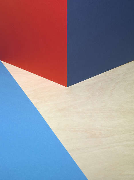 Abstracted Angle Compositions - Alexis Facca Creates Ambiguous Paper Artworks That Embrace Color