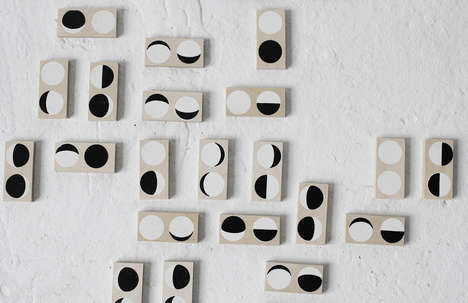 Lunar Domino Sets - This Set of Dominoes Replaces Small Dots with Moon Phases