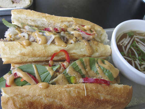 Soup Dipped Sandwiches - This Pho Banh Mi Sandwich is Meant to Be Eaten Like a French Dip