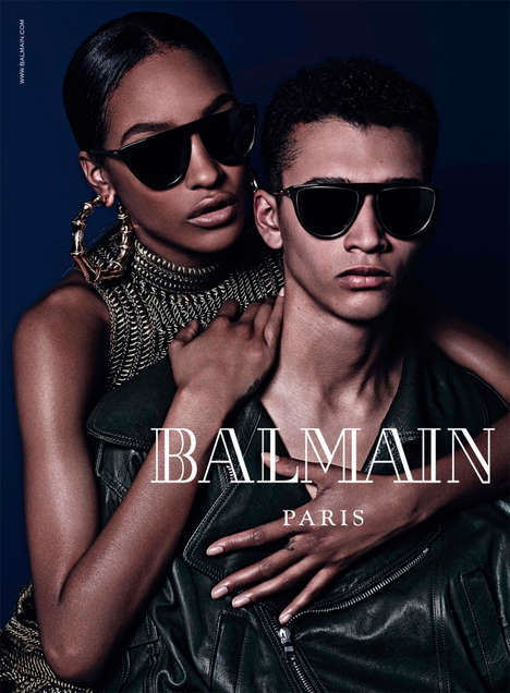 Urban Luxury Eyewear Ads - The Balmain Fall/Winter 2014 Campaign Preview Boasts a Young Aesthetic