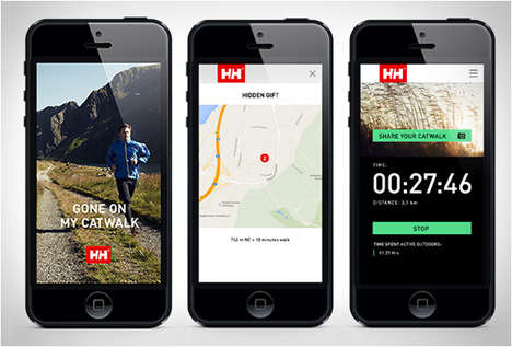 Wilderness Walking Apps - The Gone on my Catwalk Smartphone App Encourages You to Get Outside