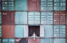 Ballerina Street Art - French Artist JR Uses Shipping Containers as His Canvas