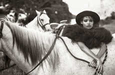 Elegant Rancher Editorials - Porter Magazine's Days Of Heaven Story is Chic in the Countryside