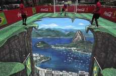 Illusory Sports Street Art - Joe Hill's Anamorphic 3D Street Art Helps Coke Celebrate the World Cup
