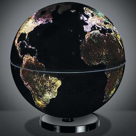 Illuminating Globe Lights - The City Lights Globe Lamp Illuminates Various Cities at Night