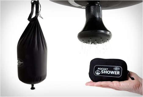 Portable Pocket Showers - This Compact Shower Head by Sea to Summit is Great for Camping