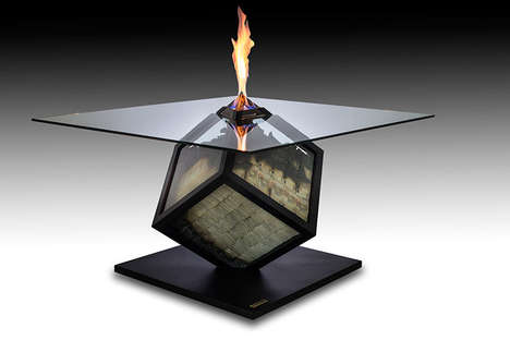 Cash-Burning Tables - This Amarist and Alejandro Monge Designed Sculptural Table is Illusory