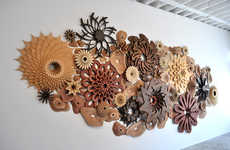 Wooden Coral Artworks - Joshua Abarbanel Creates 3D Sculptures Inspired by the Ocean