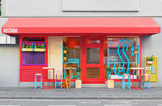 Colorful Restaurant Decor