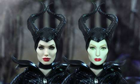 Villainous Doppelganger Dolls - Noel Cruz Creates a Lifelike Version of a Maleficent Film Doll