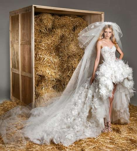 Rustic Wedding Dress Lookbooks - The Zuhair Murad Spring 2015 Bridal Collection is a Fairy Tale