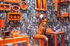 This Vibrant Hermes Window Display Shows a Fox at Home