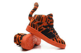 Striped Tiger Sneakers - The Jeremy Scott Adidas Fall/Winter 2014 Shoe Collection is Wild