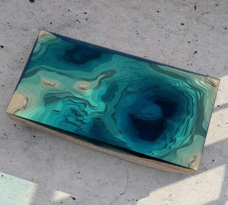 Glass Ocean Tables
