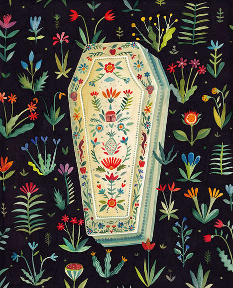 Surrealistic Coffin Illustrations - The 'Coffins' Exhibit Offers an Alternative Look at Death