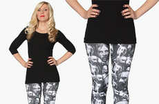 Monochromatic Zombie Leggings - These Walking Dead Leggings are Covered in Blood-Thirsty Zombies