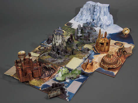Fantasy World Pop-Up Books - The Pop-Up Guide to Westeros Captures the Dynamic Game of Thrones World