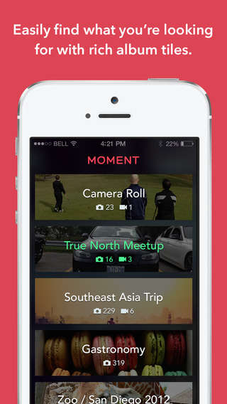 Daily Photography Apps - The Moment App Combines Videos and Snapshots to Chronicle Everyday Life