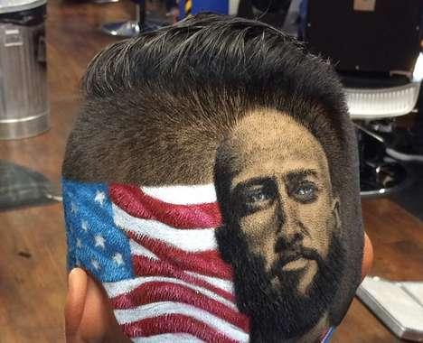 Shaved Portraiture Haircuts