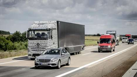 Self-Driving Trucks - Daimler's Future Truck 2025 Project is Testing Autonomous Trucks