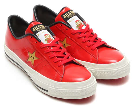 Gamified Character Sneakers - These Super Mario Shoes Celebrate the Super Mario Bros. Game