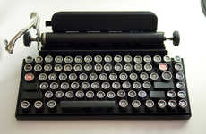 Nostalgic Typewriter Keyboards - This Vintage Computer Keyboard Looks Like a Set of Typewriter Keys
