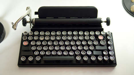 Vintage Typewriter Keyboards - The Qwerkywriter Typewriter Gives Your Computer a Vintage Feel