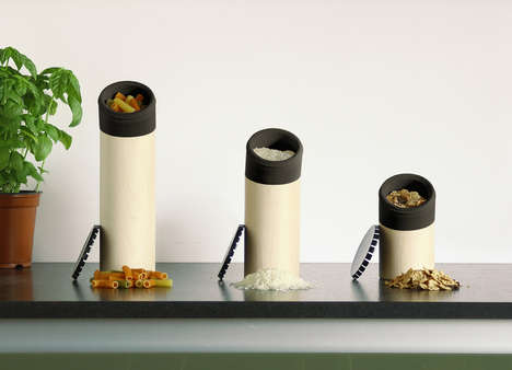 Architectural Kitchen Accessories - These Dry Food Containers are Both Functional and Attractive