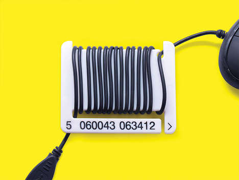 Barcode Cable Organizers - Duncan Shotton Offers a Creative Way to Declutter Your Office