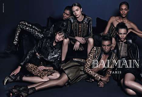 Lounging Safari Photoshoots - The BALMAIN Paris Fall/Winter 2014 Campaign Channels a Hip-Hop Vibe