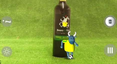 Interactive Wine Bottles - The Beso De Vino World Cup Wine Comes to Life with Augmented Reality