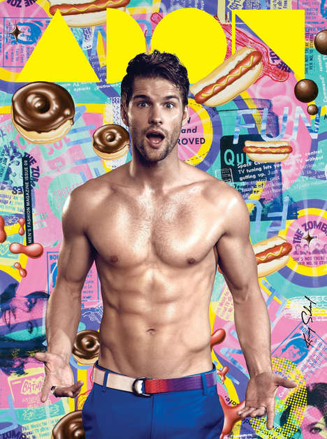 Shirtless Sugar Rush Covers - Tomas Skoloudik Fronts the Latest Issue of ADON Magazine