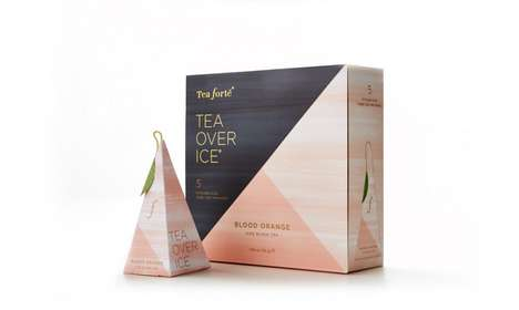 Triangular Tea Packaging - Boxes for Tea Forte Take Inspiration from Basic Geometric Shapes