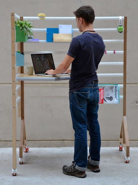 L-Shaped Adaptable Workstations - Your Position by David Manning is Minimalist and Modern