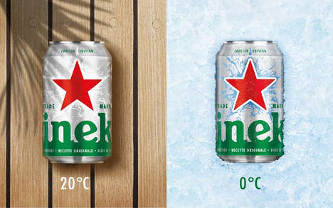 Chill-Revealing Beer Cans - This Heineken Beer Can Design Looks Cracked When It