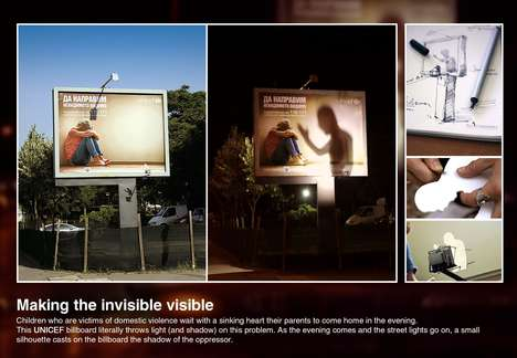 Illuminating Child Abuse Ads - This UNICEF Bulgaria Billboard Aims to End Violence Against Children