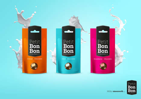 Colorful Bon Bon Bags - Packaging for Petit Bon Bon is Straightforward and Color-Coded