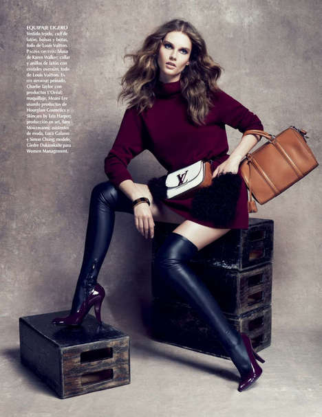 Beguiling Businesswoman Editorials - The Vogue Mexico Shoot Stars Model Giedre Dukauskaite