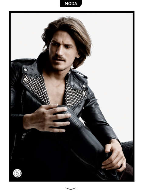 Leather-Clad Biker Captures - GQ Brazil's Let's Go Black! Editorial Highlights Luxe Designer Looks