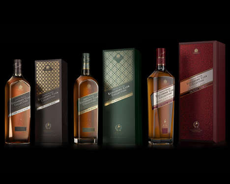 Intrepid Whisky Packaging - The Johnnie Walker Explorers' Club Collection Showcases Worldly Flavors