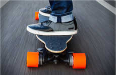 Lightweight Electric Skateboards - The Boosted Board Turns a Push Skateboard into a Motorized Ride