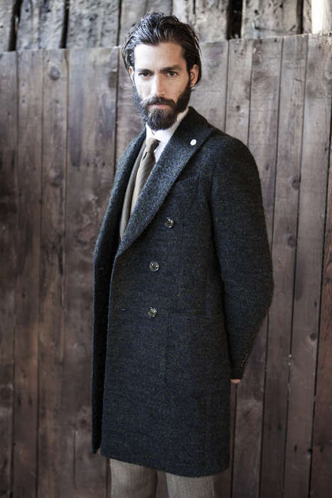 Debonair Gentleman Catalogs - The Luigi Bianchi Mantova Fall/Winter 2014 Collection is Elegant