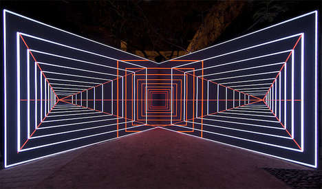 Hypnotic Lighting Installations - Onion Skin by Olivier Ratsi Explores Concept of Time and Space