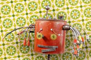 These Adorable Robotic Sculptures Turn Garbage into Art