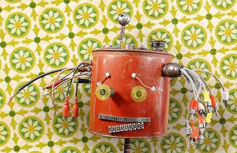Recycled Material Robots (UPDATE) - These Adorable Robotic Sculptures Turn Garbage into Art