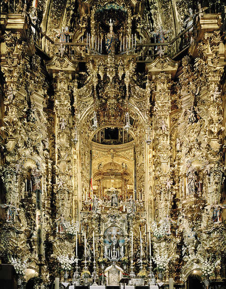 Baroque Church Photography - This European Church Photo Series is Stunningly Lavish with Detail
