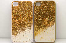Gold-Dusted Tech Accessories - Etsy's Glitter Mobile Case Features a Disco-Themed Design