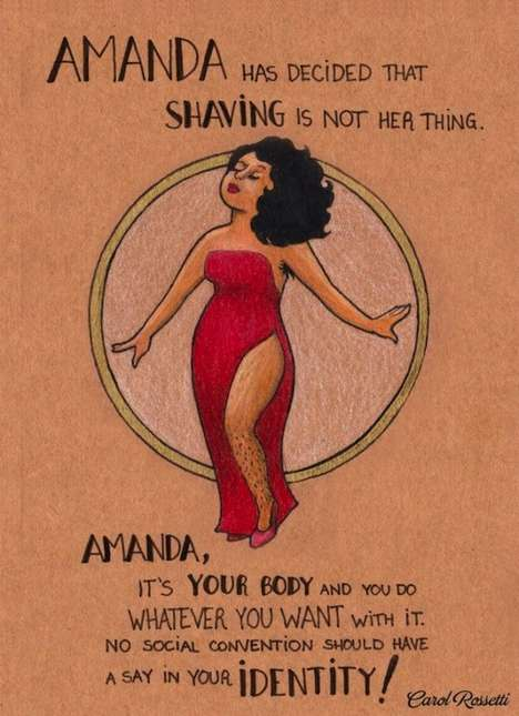 Empowering Feminism Posters - This Body Positive Illustration Series Inspires Women to Be Themselves